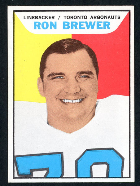 1965 Topps CFL #103 RON BREWER  Near Mint