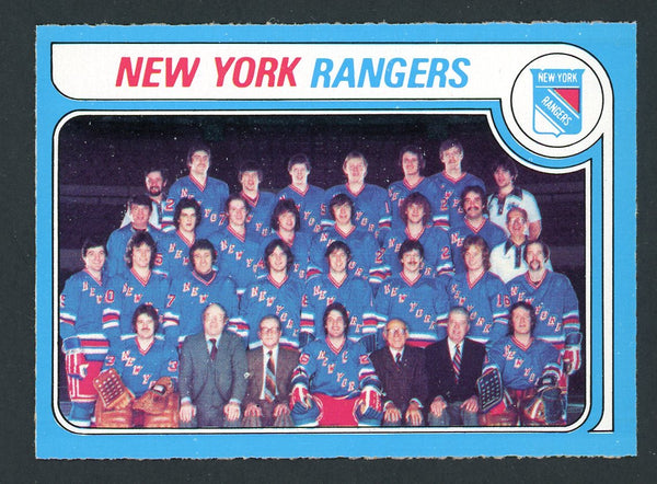 1979 O-Pee-Chee #254 NEW YORK RANGERS Checklist Near Mint+