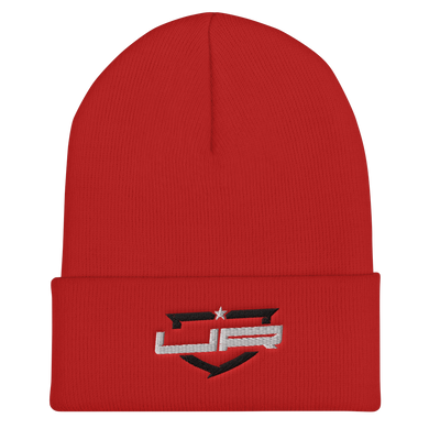 Red Beanie - Black and White