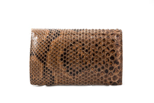 Python Leather Small clutch bag