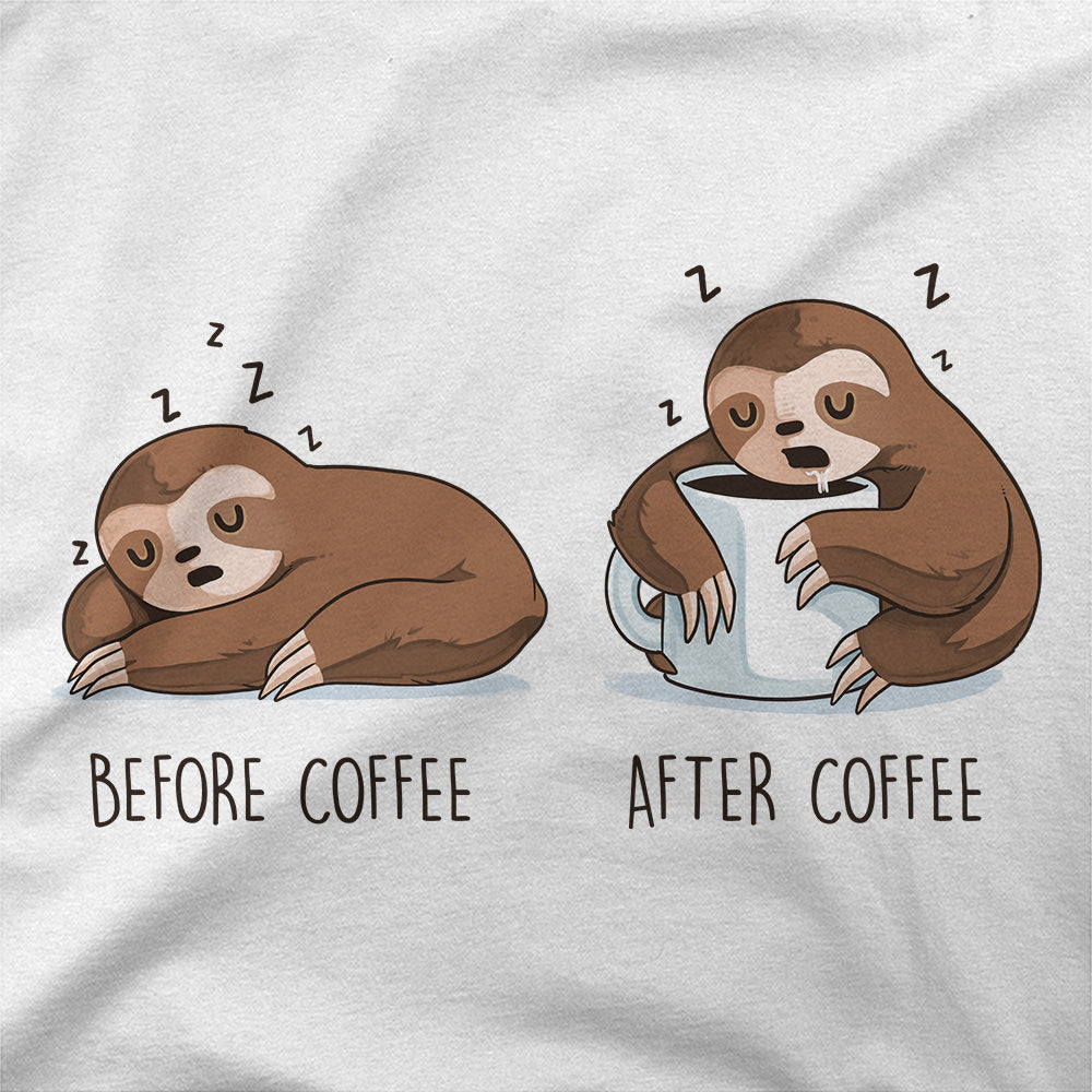 Before and After Coffee T-Shirt