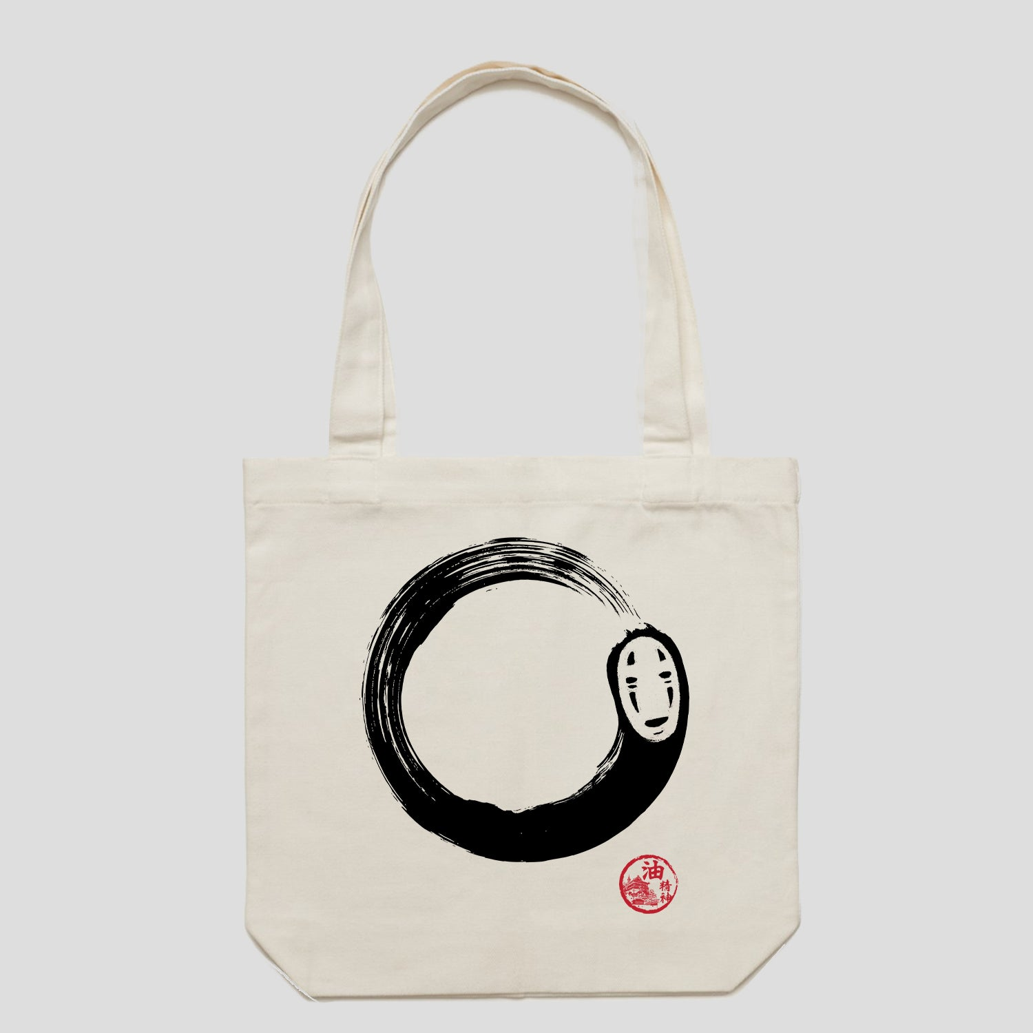 Enso No Face Spirited Away Anime Tote Bag Australia