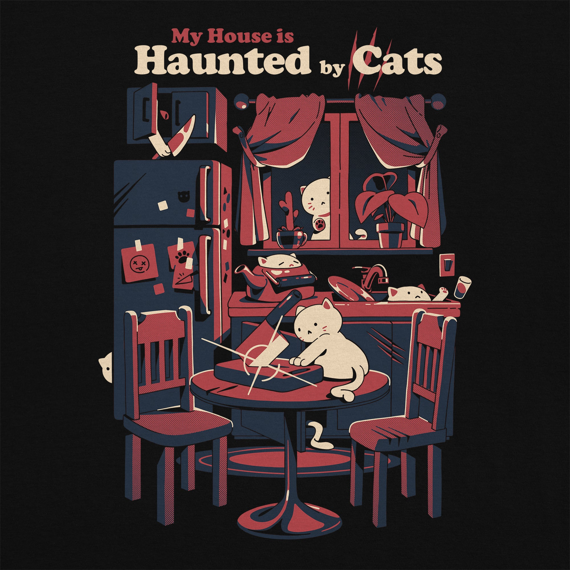 Haunted by Cats T-Shirt