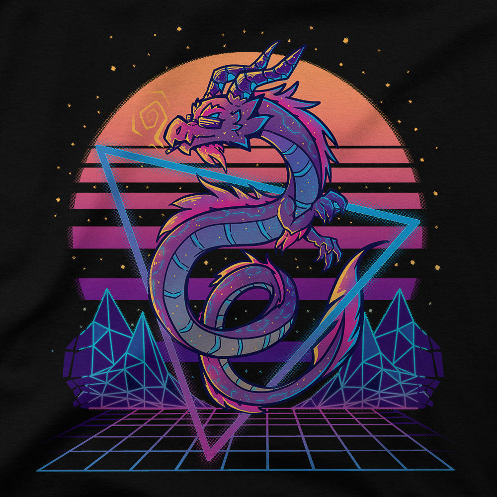 Retrowave Dragon Aesthetic T-Shirt