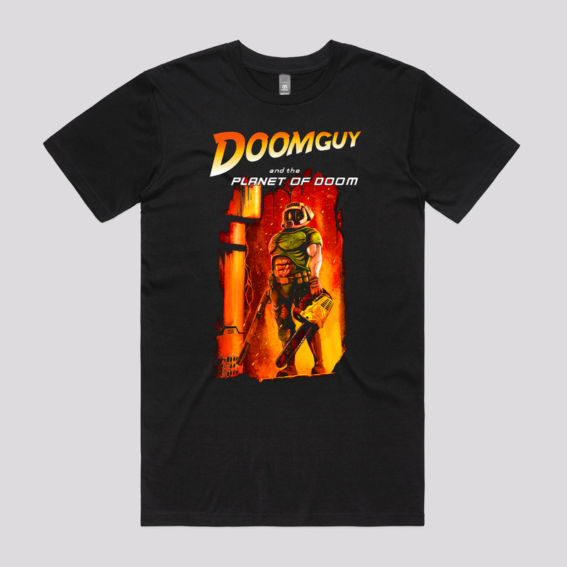 Doomguy in the Doom Planet