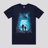 Cool Spaceship Planet Fantasy Robot T-Shirt