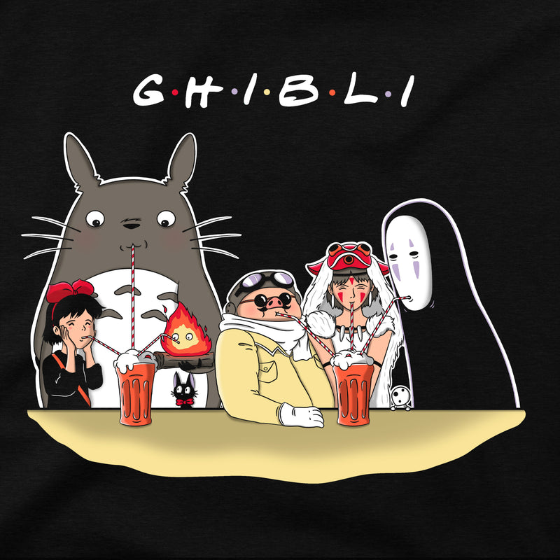 Cool Studio Ghibli Anime Hoodies Sweatshirt in Black