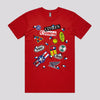 Cool Akira Shotaro Kaneda Bike T-Shirts in Red