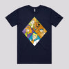 Scooby Doo Retro Cartoon T-Shirt in Navy