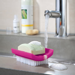 Daily Soap - Seifenschale mit Bürste - Qverfield