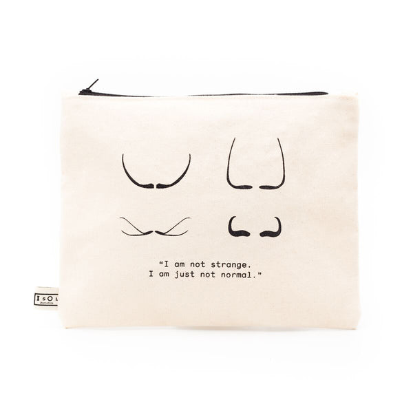 Mustache - kleine Tasche - Toiletry Bag - clutch
