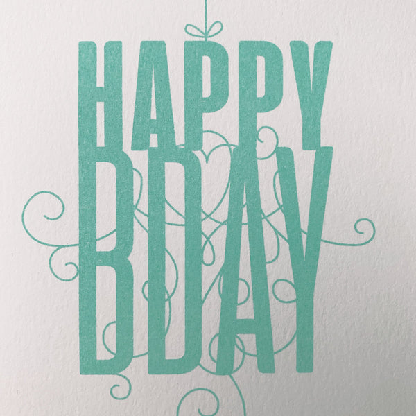 "Karte ""Happy Birthday"" Risographie  - Handmade in Germany"
