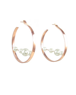 Abacus Hoops with Diamonds & Pearls