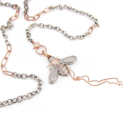 Mixed Metal Bee & Chain
