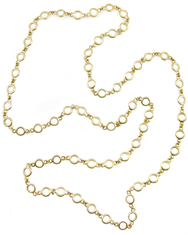 Gold Circle Statement Chain