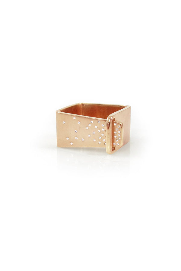 Diamond Sprinkle Square Tuck Ring