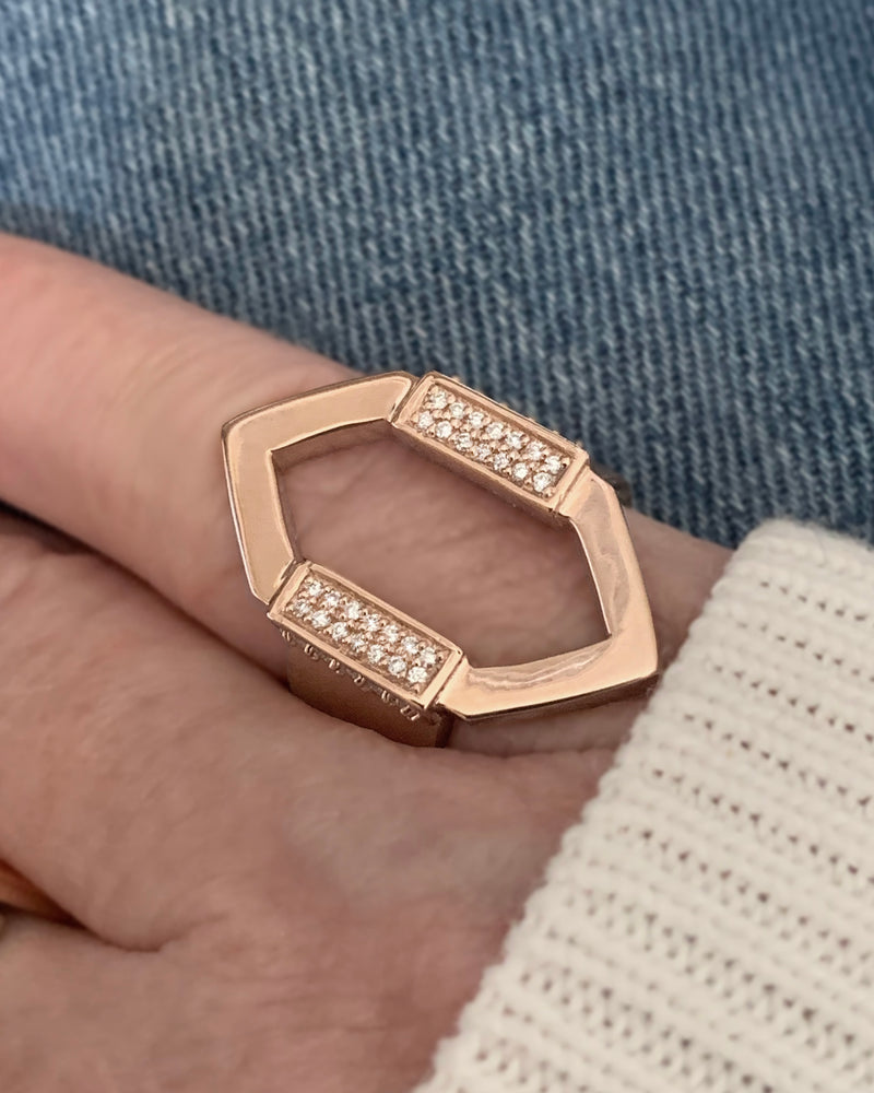 14k Open Marquis Diamond Band