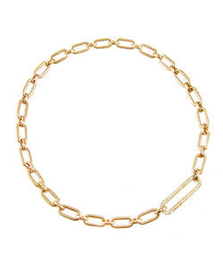 14k Heavy Mixed Link, Diamond Clasp