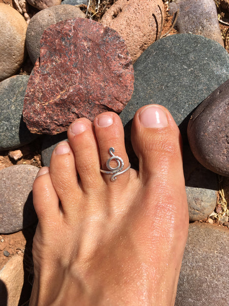 Snake Swirl Toe/Midi Ring