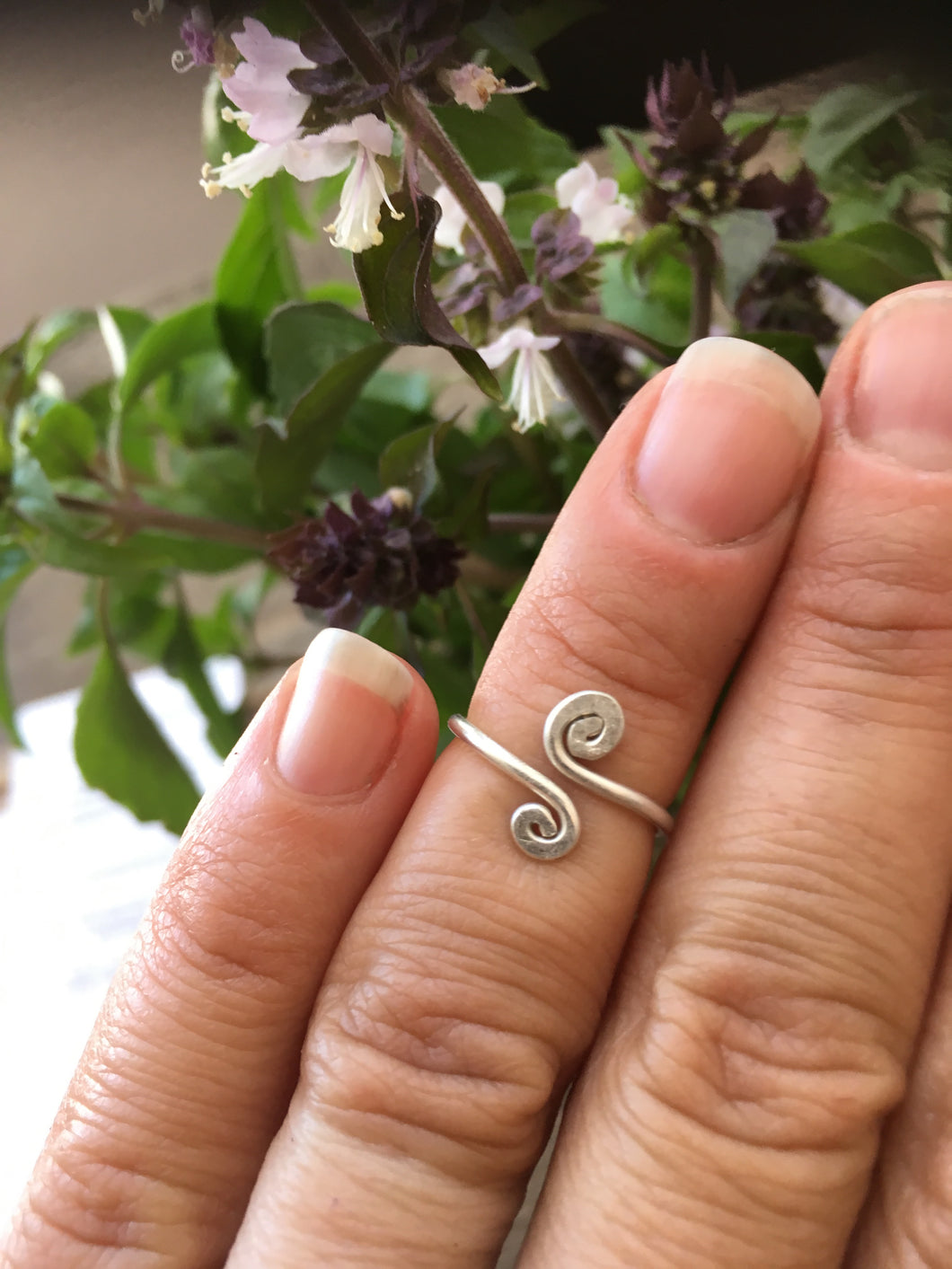 Double swirl Toe/Midi Ring