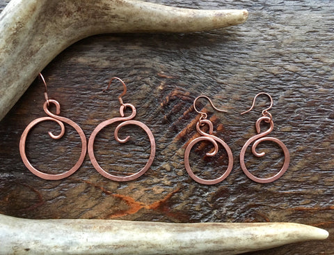 Copper S Hoops