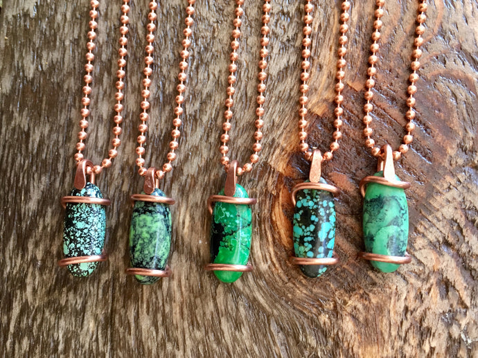 Green Turquoise Copper Wraps