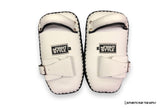 InFightStyle® Single buckle kick pad | White-black