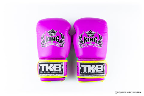 Top king Boxing® signature gloves neon purple