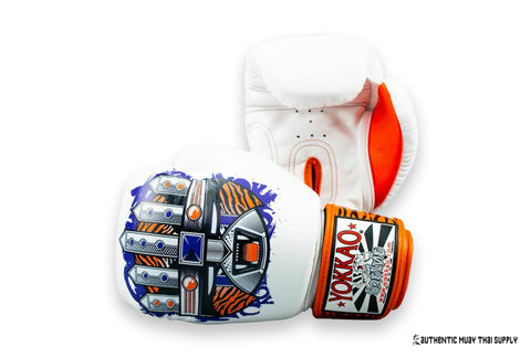 YOKKAO® GLOVES | APEX TIGER WHITE BOXING GLOVES | 10 oz