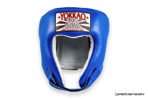 Yokkao® Competition Head Guard | Blue - Authentic Muay Thai Supply