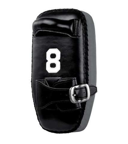 COMBATCRNR® | 8 MUAY THAI SINGLE STRAP THAI PADS BLACK/GREY
