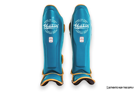 Yokkao® Shin guards | Vintage blue