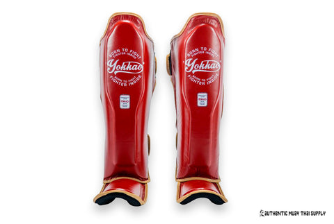 Yokkao® Shin guards | Vintage red