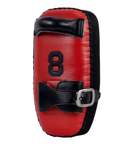 COMBATCRNR® | 8 MUAY THAI SINGLE STRAP THAI PADS RED/BLACK