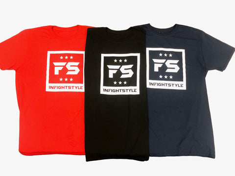 InFightStyle® Logo Tee Collection | Red | Black | Navy