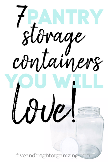 7 Pantry Organization Containers you'll Love!