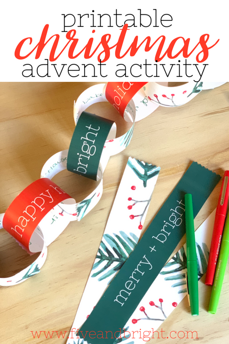 Printable Christmas Advent Calendar Countdown Garland