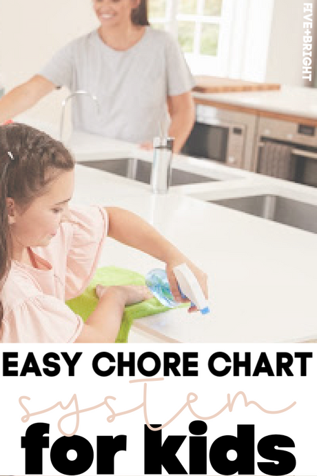 Easy Chore Chart System for Kids