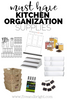 10 Must Have Kitchen Organizing Supplies!