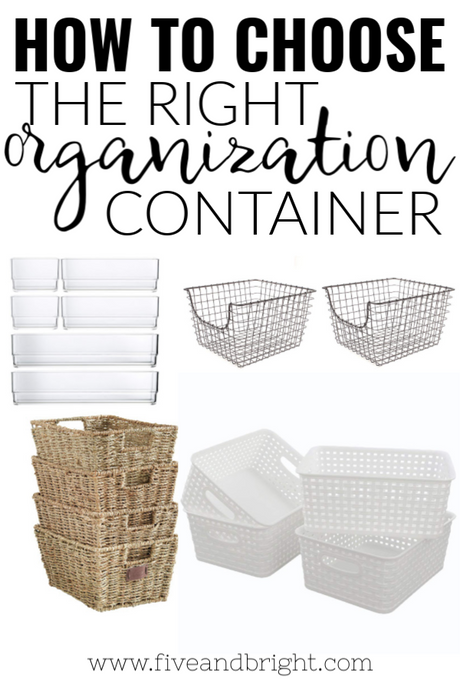 Organization Containers: How to pick the right one