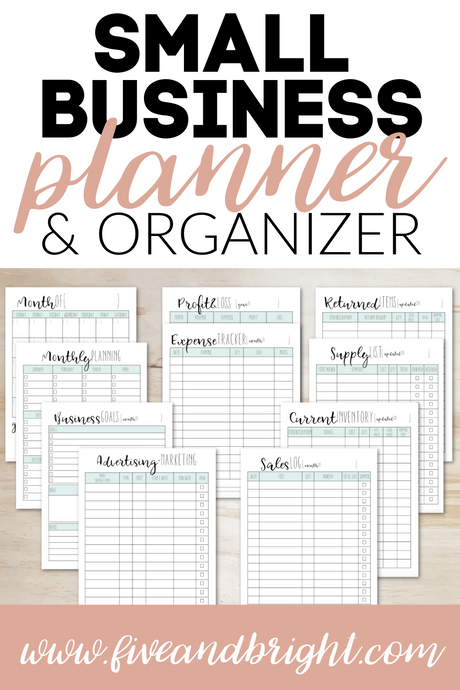 Small Business Planner & Organizer