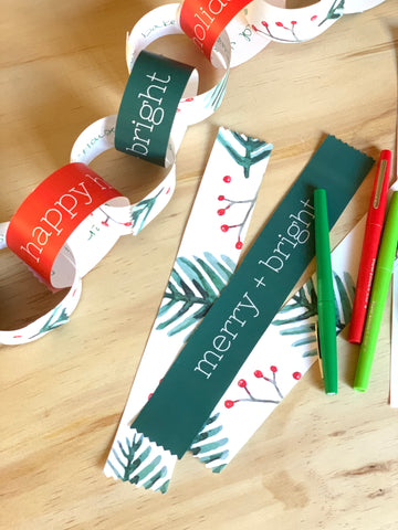 Printable DIY Christmas Garland countdown