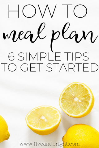 How to Meal Plan, tips for Beginners