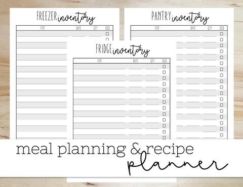 Printable Meal Planner sheets