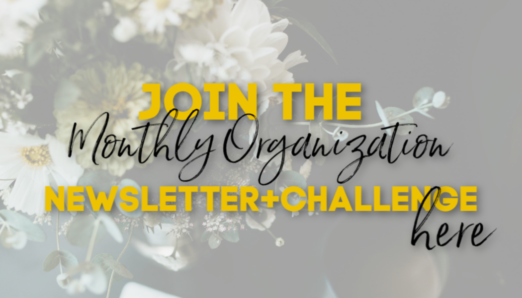 Monthly Organization Newsletter & Challenge