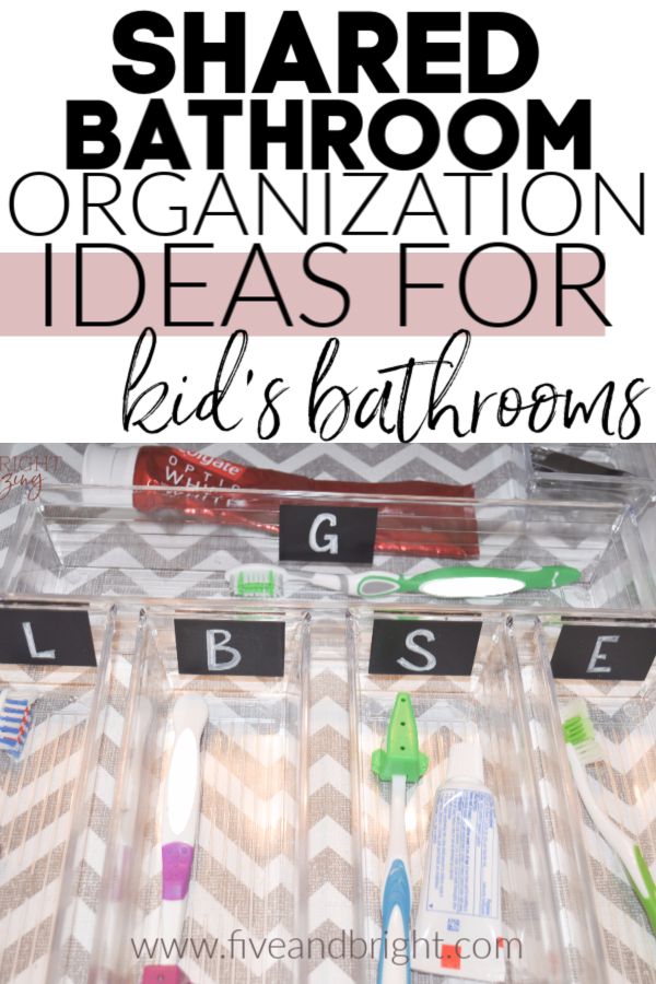 Shared bathroom organization ideas