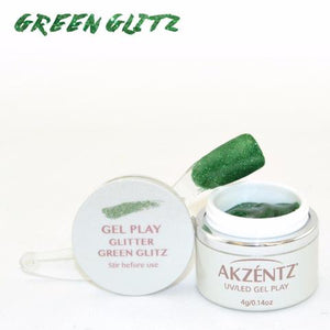 Gel Play Glitter - Green Glitz