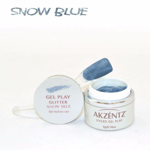 Gel Play Metallic Glitter - Snow Blue
