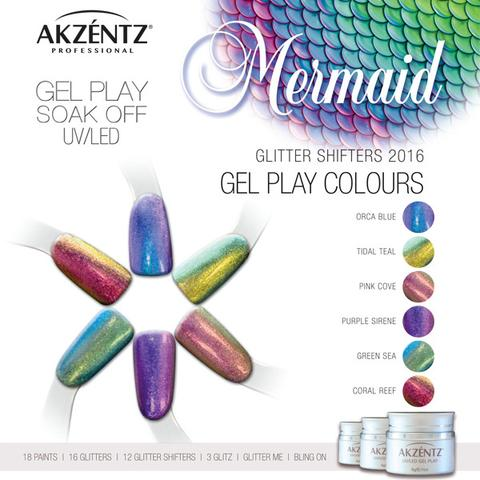 Gel Play Glitter Mermaid Shifter - Green Sea