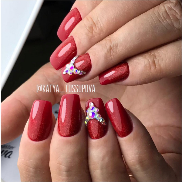 Gel Play Glitter - Cherry Red